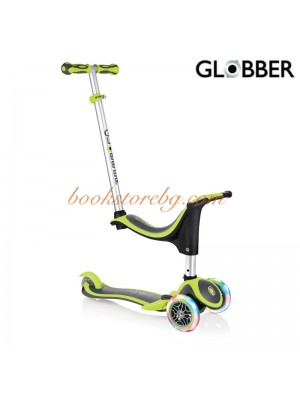ТРОТИНЕТКА GLOBBER  EVO 4 IN 1 PLUS LIGHTS ЗЕЛЕНА